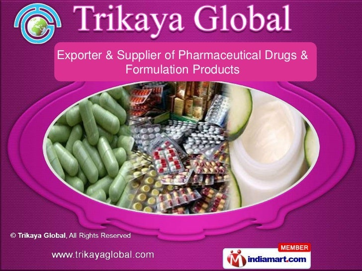 Exporter & Supplier of Pharmaceutical Drugs &            Formulation Products
