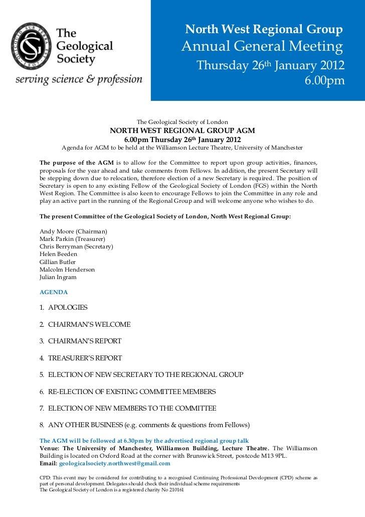26.01.2012   Agm Agenda