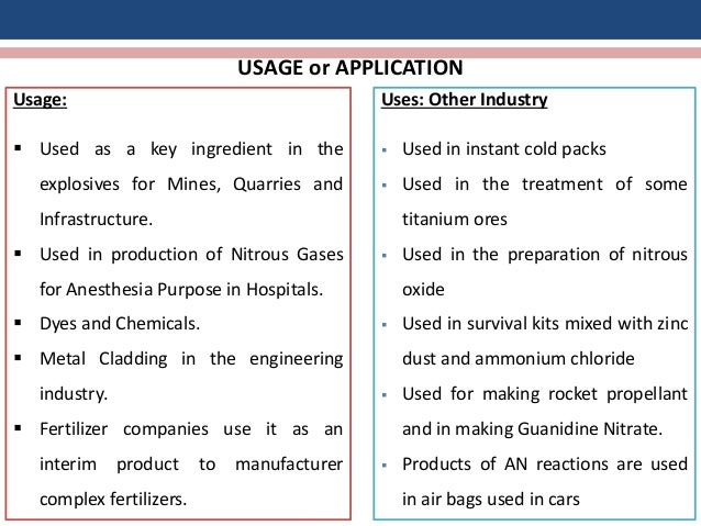 the production of ammonium nitrate Determination of the reactivity with an ammonium nitrate melt  in contrast, fertiliser production in the usa was mainly along the.