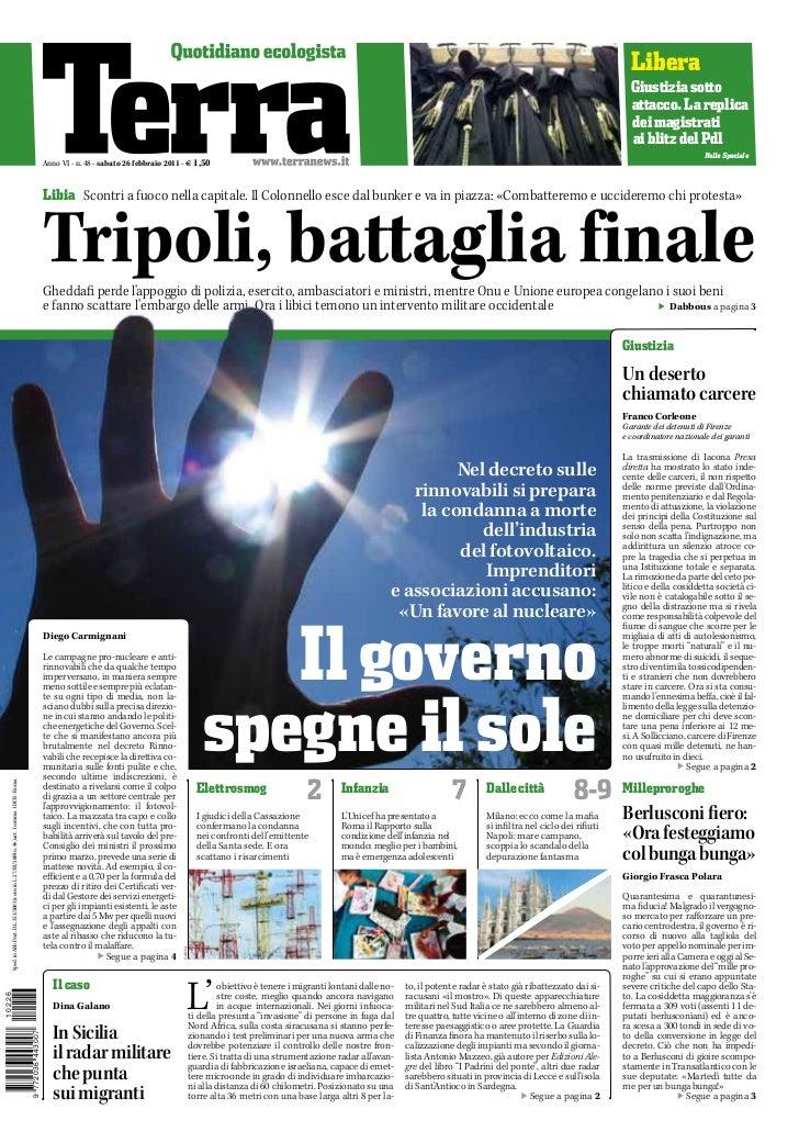 TERRA - quotidiano - 26/02/2011