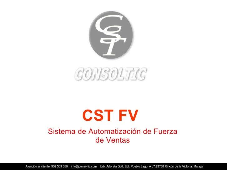 CST FV Sistema de Automatización de Fuerza de Ventas