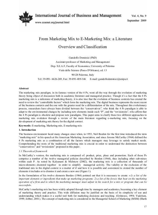 International Journal of Business and Management                                                       September, 2009    ...