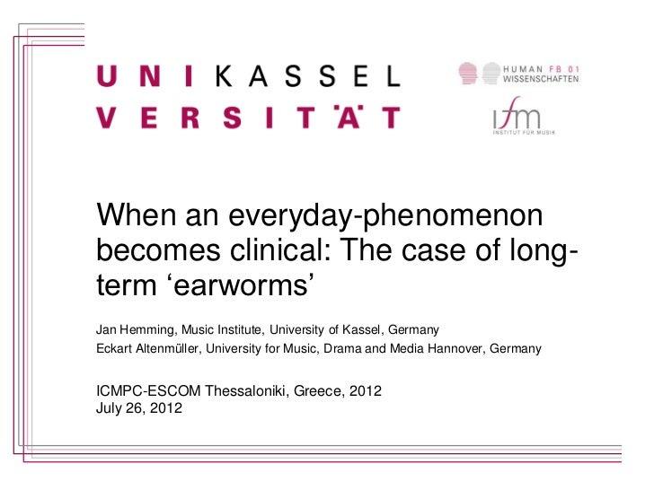 Icmpc 12 earworm talk: Jan Hemming