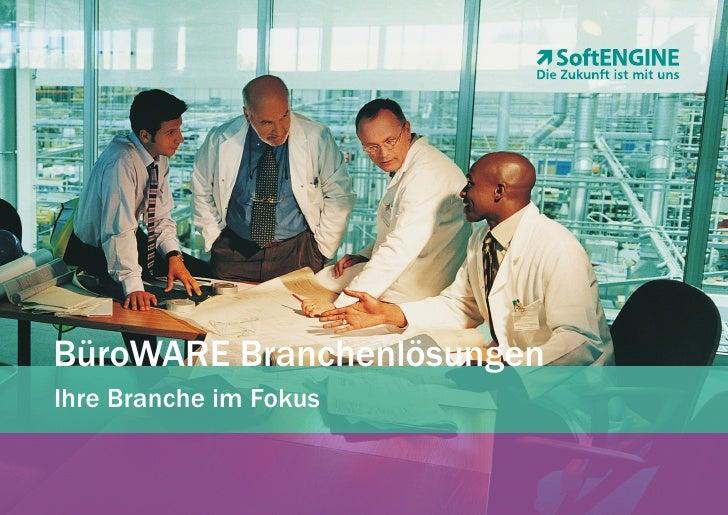 BüroWARE Branchenlösungen Ihre Branche im Fokus