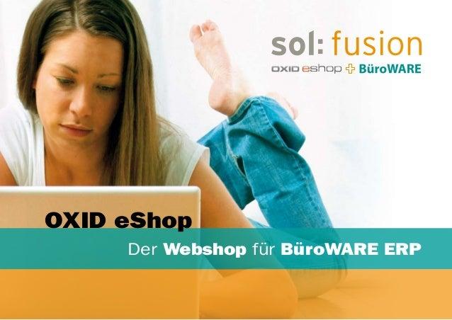 Der Webshop für BüroWARE ERP OXID eShop