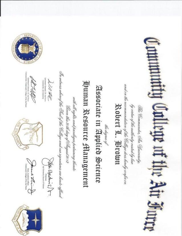 CCAF - Associates Degree - Human Resource Mgt