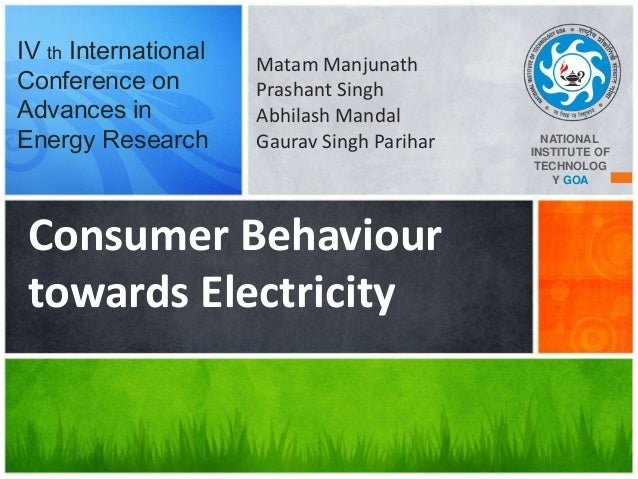 IV th International Conference on Advances in Energy Research  Matam Manjunath Prashant Singh Abhilash Mandal Gaurav Singh...