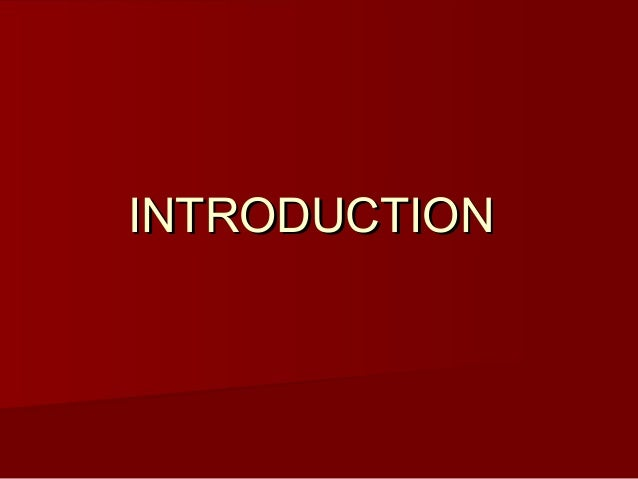 INTRODUCTIONINTRODUCTION