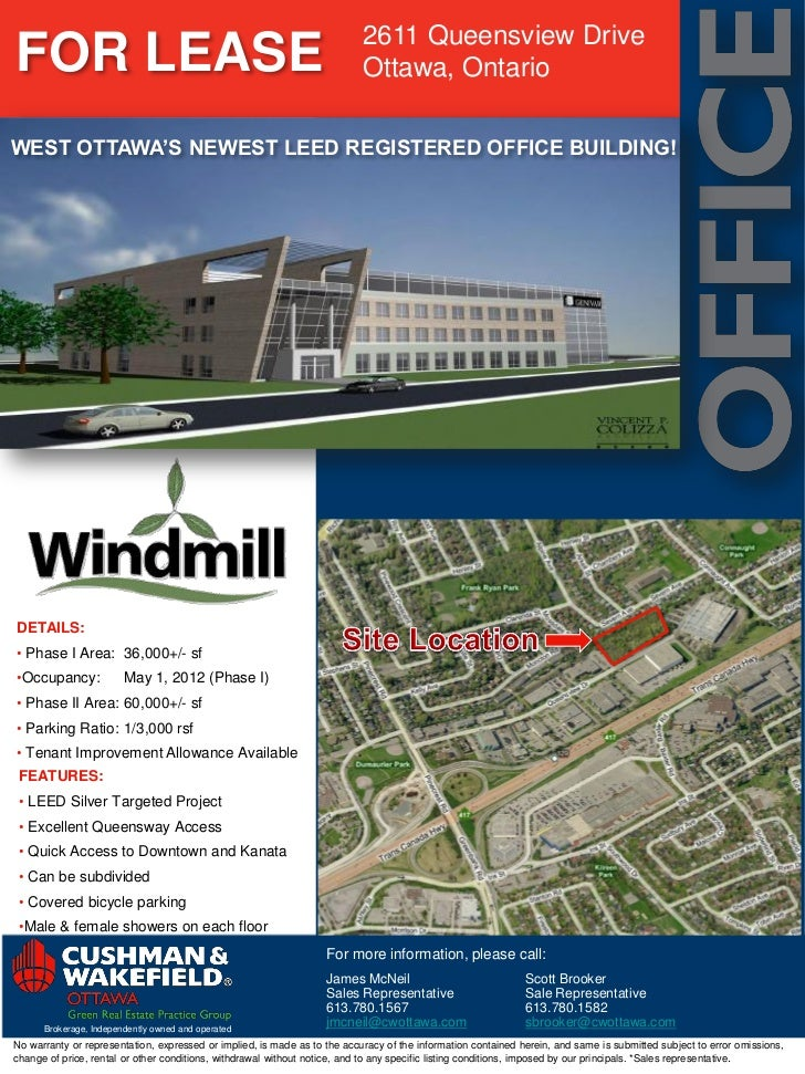 2611 Queensview DriveFOR LEASE                                                                  Ottawa, OntarioWEST OTTAWA...