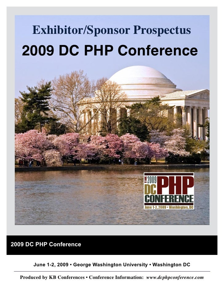 Exhibitor/Sponsor Prospectus    2009 DC PHP Conference     2009 DC PHP Conference          June 1-2, 2009 • George Washing...
