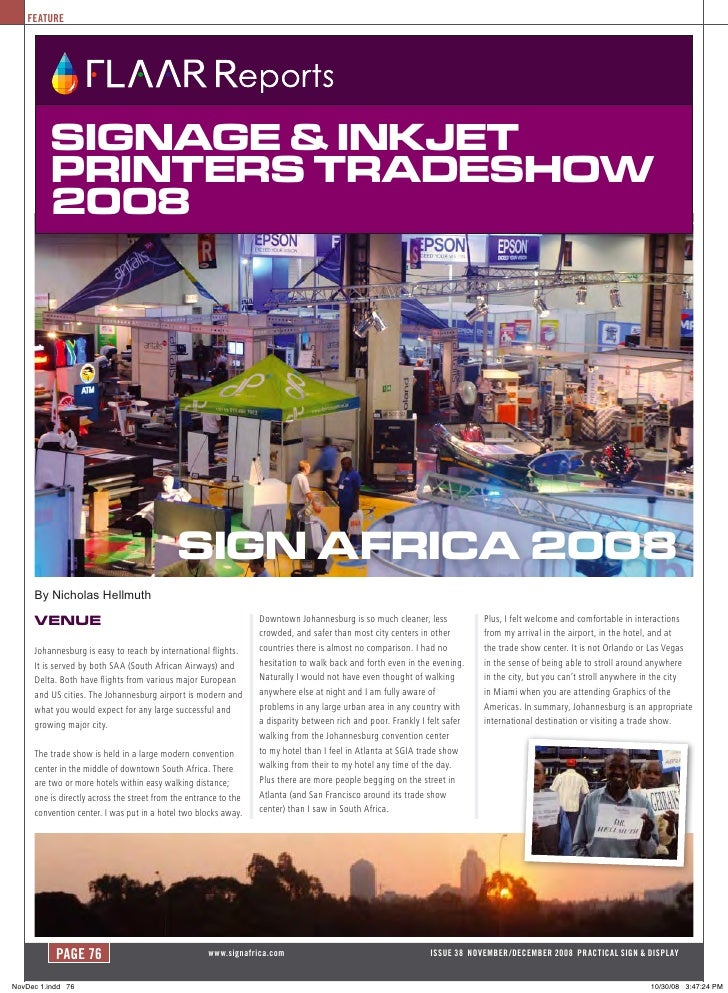 FEATURE               Signage & inkjet           PrinterS tradeShow           2008                                        ...