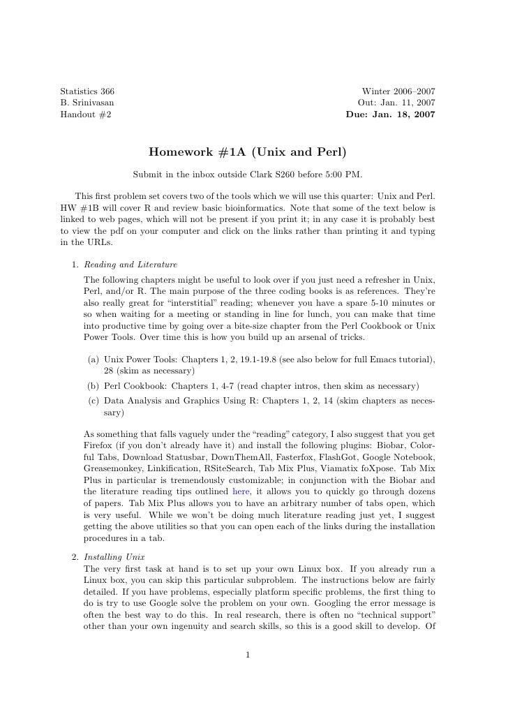 Statistics 366                                                              Winter 2006–2007 B. Srinivasan                ...