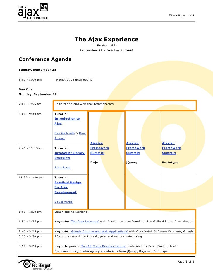Title • Page 1 of 2                                       The Ajax Experience                                             ...