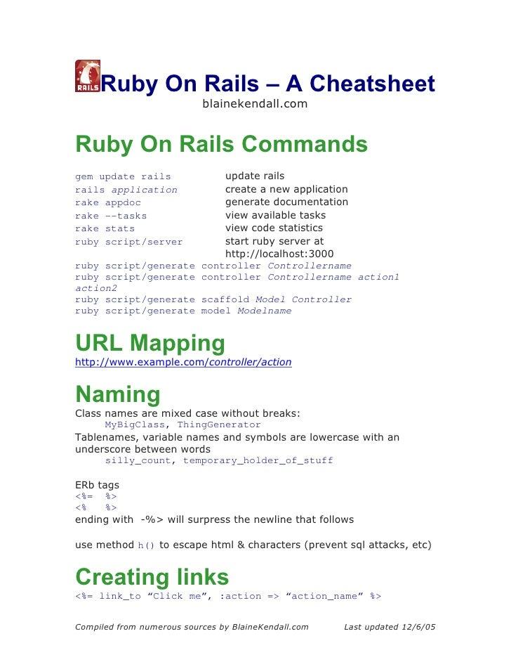 RubyOnRails-Cheatsheet-BlaineKendall