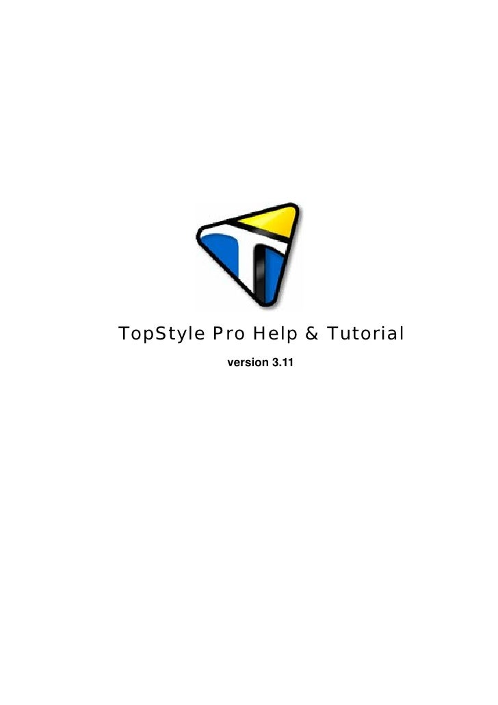TopStyle Pro Help & Tutorial           version 3.11