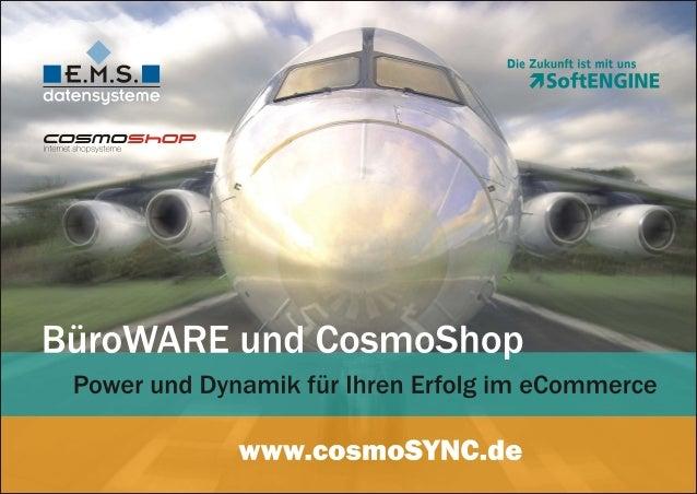 BüroWARE ERP und CosmoShop - Leistungsstarke E-Commerce-Lösung mit ERP-Schnittstelle