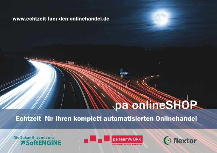 pa onlineSHOP - Echtzeit für Ihren komplett automatisierten Onlinehandel (ERP / Shop)