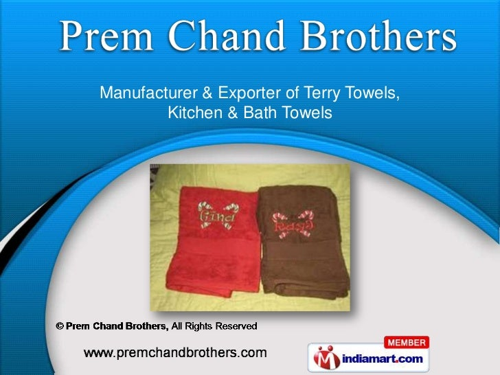 Manufacturer & Exporter of Terry Towels,        Kitchen & Bath Towels