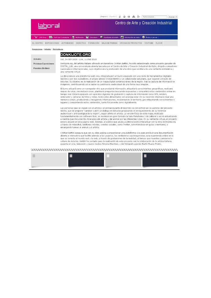 Rhizome | DONKIJOTE.ORG at LABoral Centro de Arte y Creación Industrial GIJON                                             ...