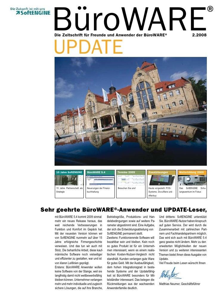 BüroWARE     Die Zeitschrift für Freunde und Anwender der BüroWARE®                                                       ...