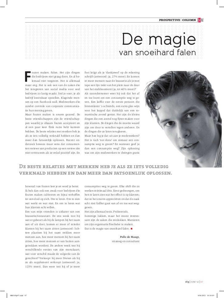 """""""De magie van snoeihard falen"""" - Column for MediaMarketing (Belgium/Dutch)"""