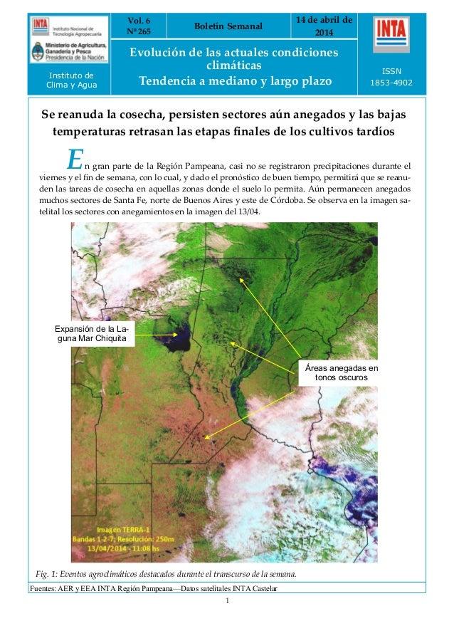 Evolución Agrometeorológica Semanal