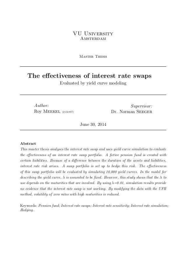 Thesis about interest rate