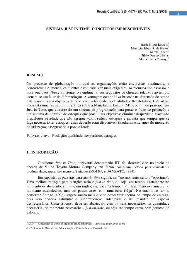 Revista Qualit@s. ISSN -1677 4280.Vol. 7, No 2 (2008)   ...