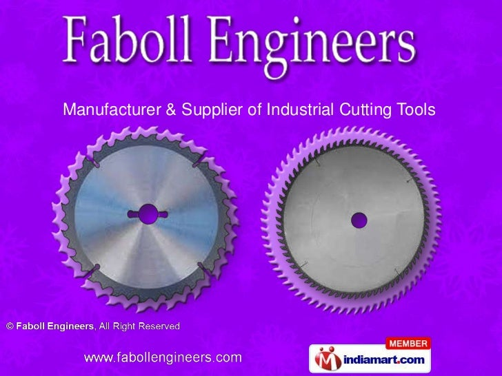 Manufacturer & Supplier of Industrial Cutting Tools