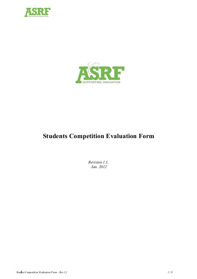 Students Competition Evaluation Form Revision 1.1, Jan. 2012 European Commission Student Competition Evaluation Form - Rev...