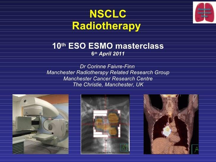 MCO 2011 - Slide 26 - C. Faivre-Finn - Radiotherapy