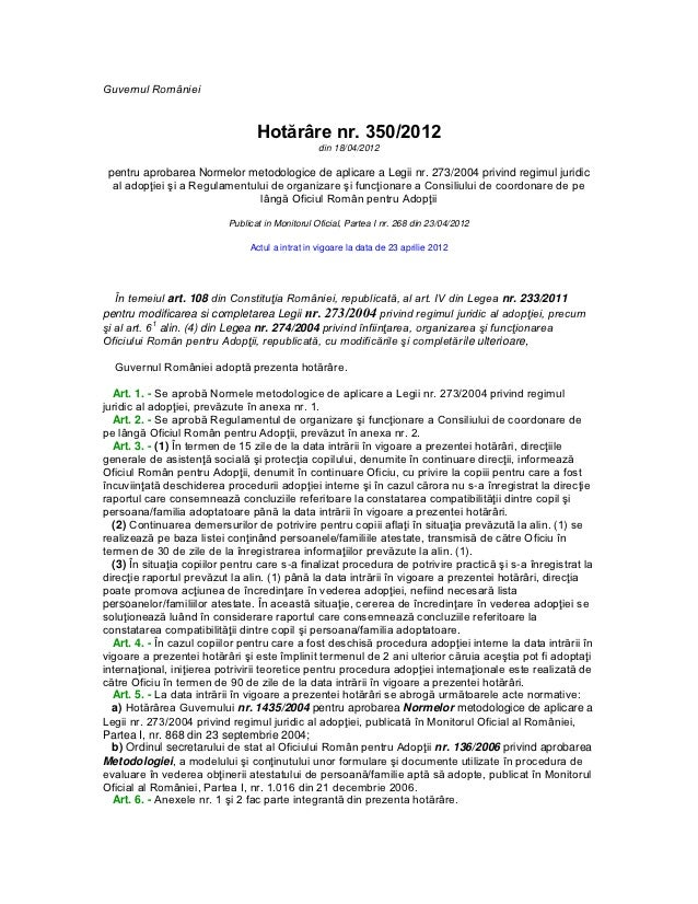 Norme metodologice adoptie 2012