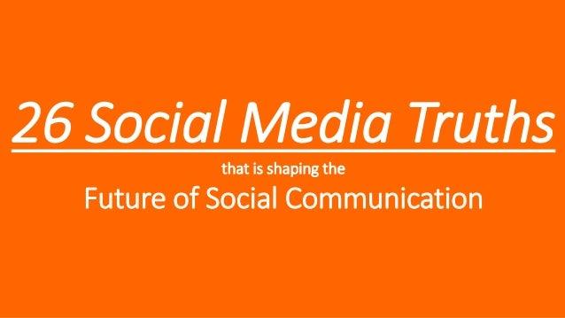 26 Social Media Marketing Truths