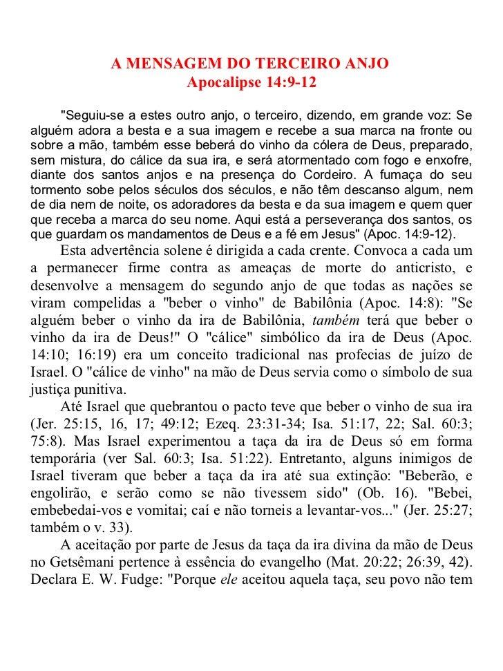 27   a mensagem do terceiro anjo. apoc. 14.9-11