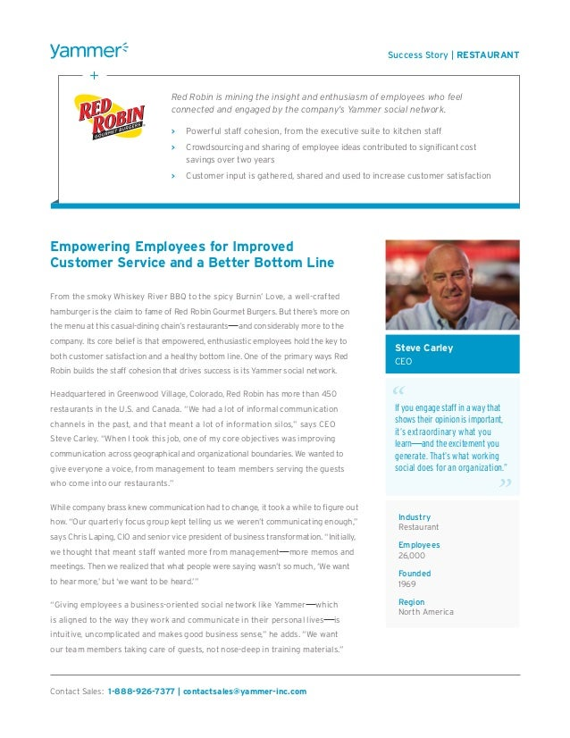 Empowering employees for improved customer service and a better bottom line