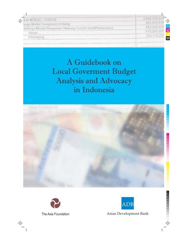 27.  panduan analisis dan advokasi anggaran asia foundation