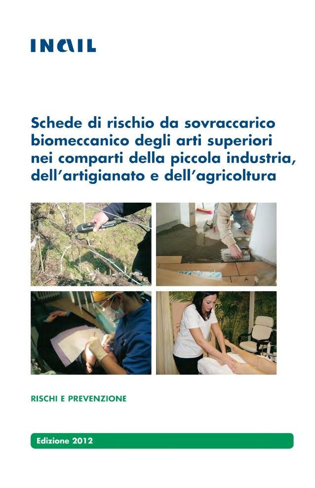 270  schede di rischio da sovraccarico biomeccanico degli arti superiori nei comparti della piccola industria, dell'artigianato e dell'agricoltura