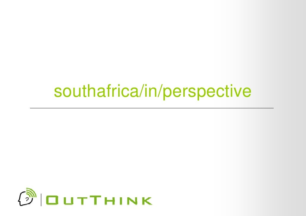 South Africa in perspective