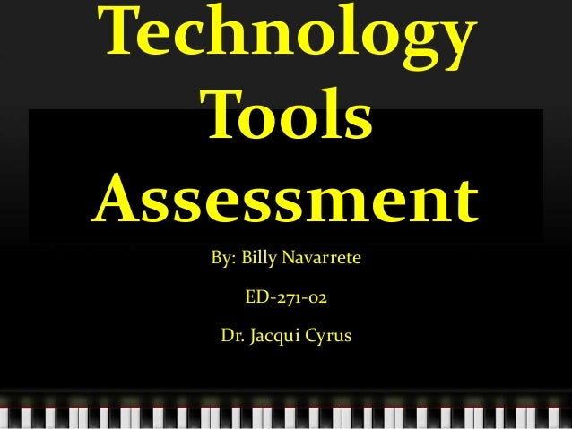 ED271 Technology Assessment Tools
