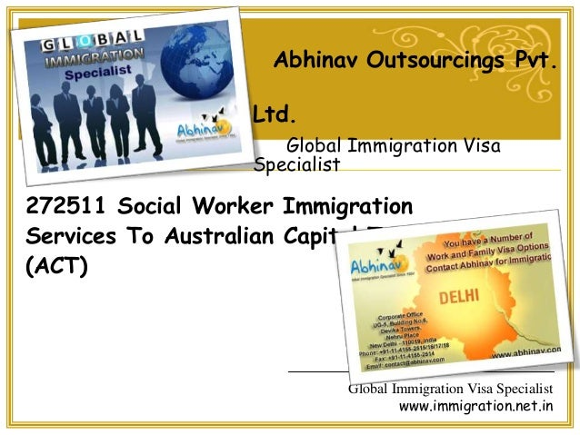 272511 social worker immigration services to australian capital territory (act)