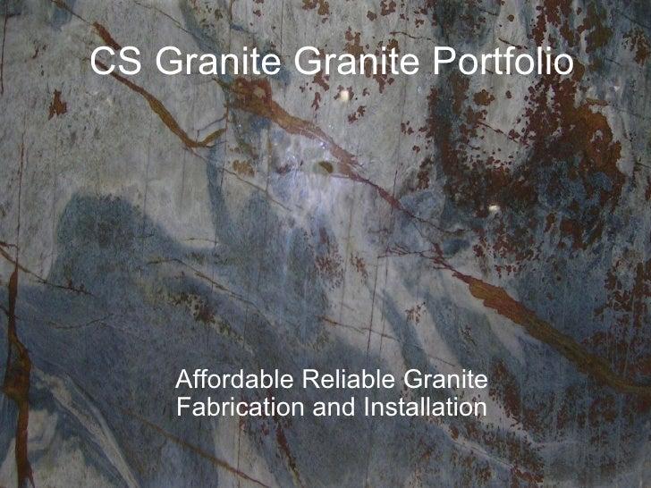 CS Granite Granite Portfolio