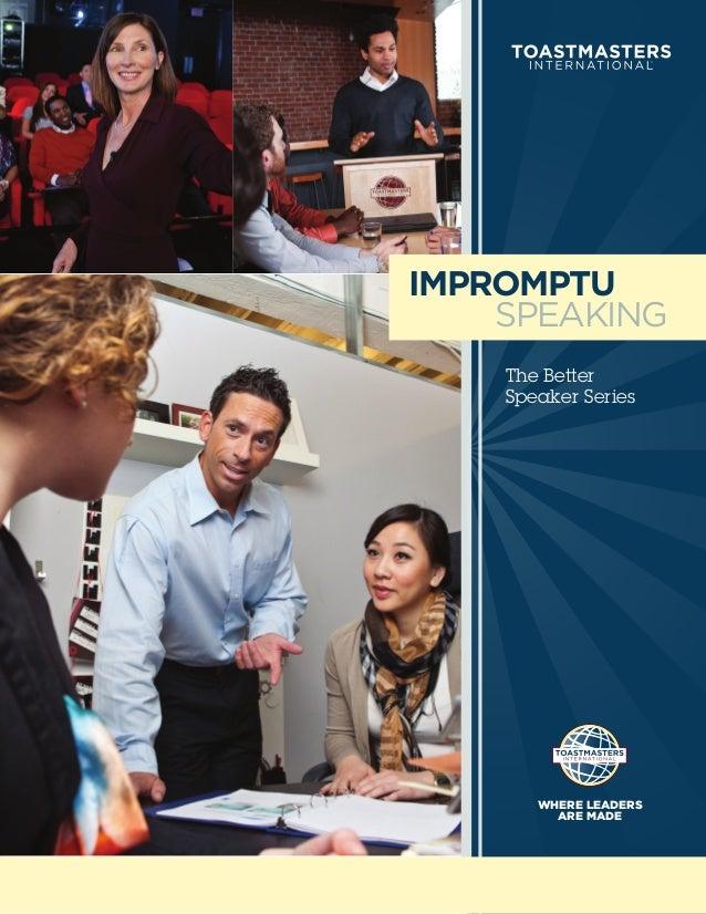 Impromptu Speaking (PDF)
