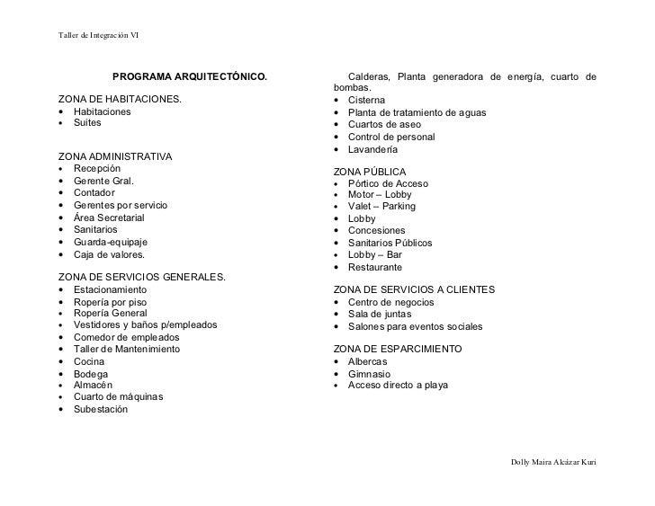 27432262 programa de necesidades for Ejemplo de programa de necesidades arquitectura