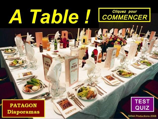 A Table !              Cliquez pour            COMMENCER                          TEST                          QUIZ      ...
