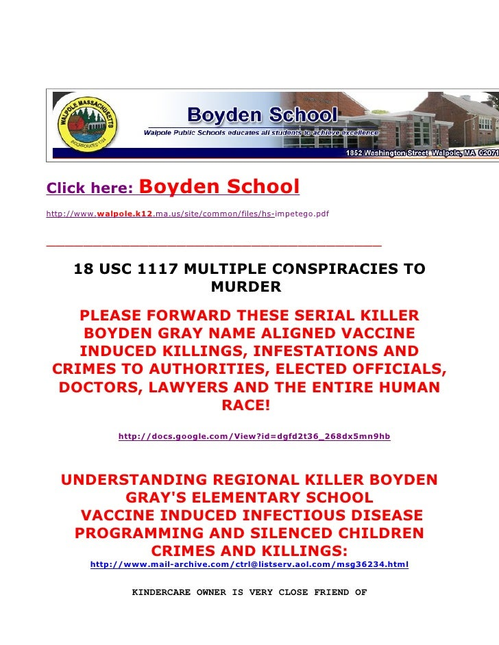 KINDERCARE: Boyden School, MRSA, AND SWINE FLU