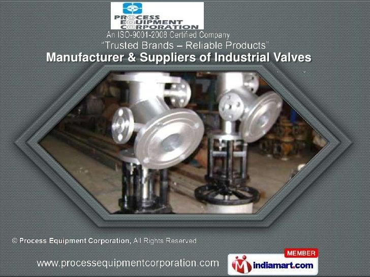 Manufacturer & Suppliers of Industrial Valves