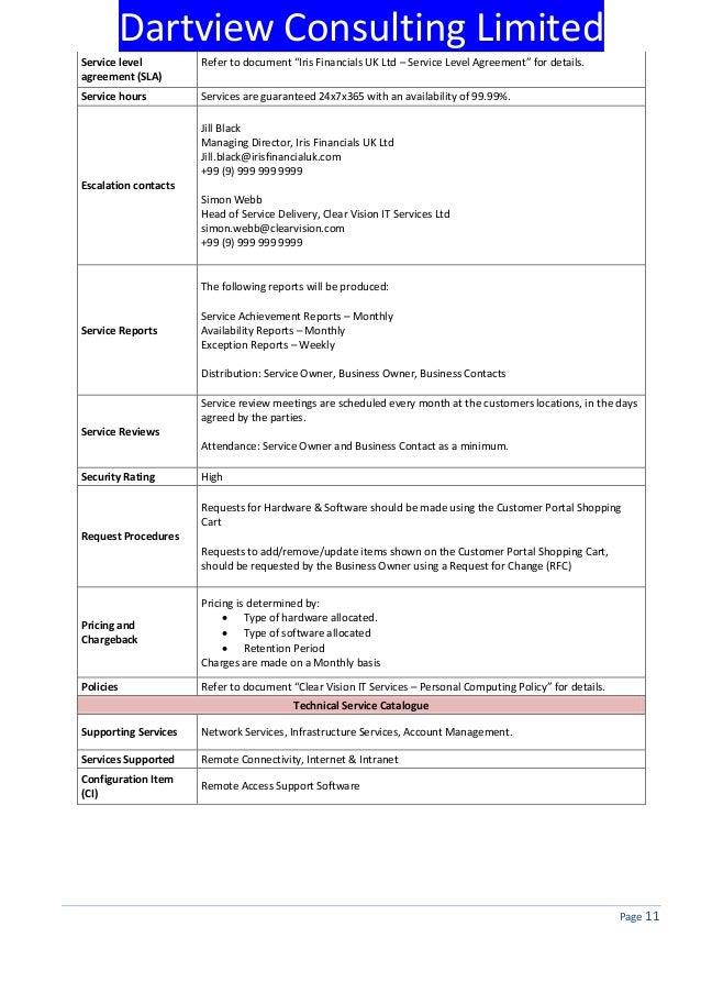 SLA Template U2013 IWork Pages 26 Pages SLA Items List U2013 IWork Numbers .