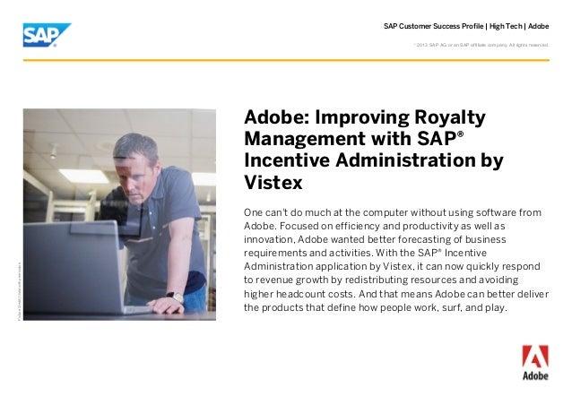 Customer Success Profile - Adobe and SAP Incentive Administration by Vistex