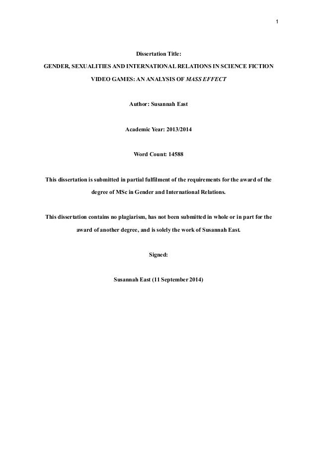International relations dissertation
