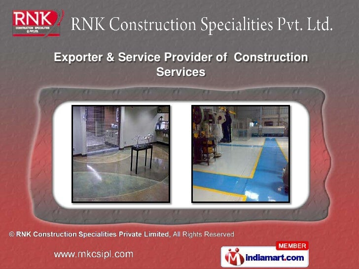 Exporter & Service Provider of Construction                 Services